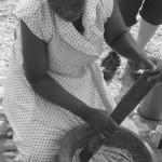 Tsonga woman traditonally prepares a meal at Kosi Bay