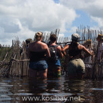 group visit to fish trap at kosi bay