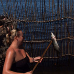 speared a fish - fish traps kosi bay
